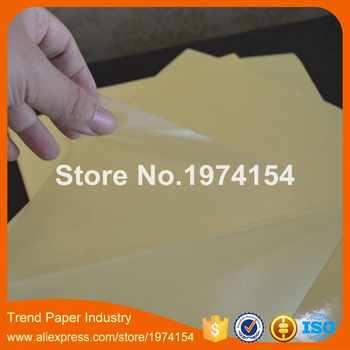 200 枚 A4 PVC クリア透明フィルムステッカー紙シート自己粘着光沢フィットレーザープリンタ 210 × 297 ミリメートル - DISCOUNT ITEM  5% OFF パソコン & オフィス