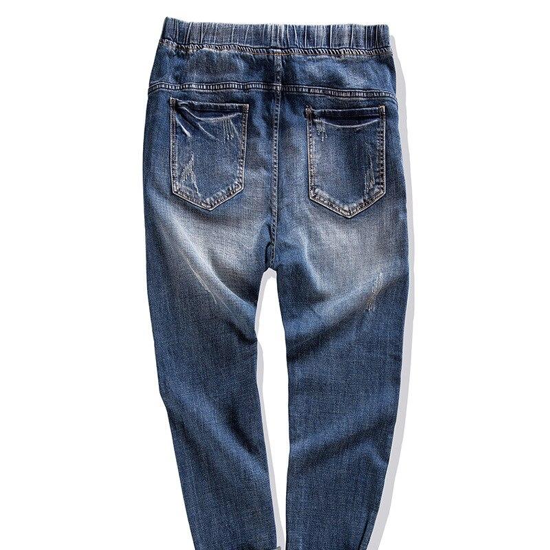6xl Denim Jeans Grande Lâche Nouvelle Pantalon D'engrais Plus Xxl Taille Pour Blue Mode Élastique Augmenter Hommes Gxxh Bleu XZnqPaxEX
