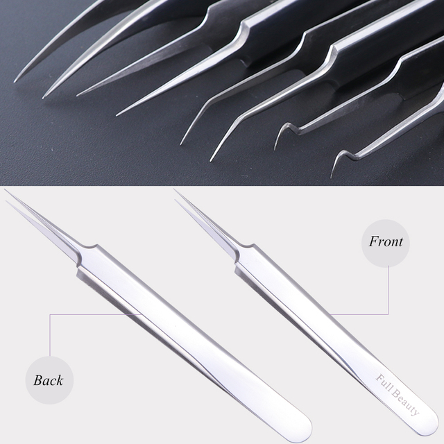 1pc Stainless Steel Blackhead Tweezers Eyelash Extension Curved Acne Clip Removal Eyebrow Tweezer Face Care Tools CHFBNC01-04 4