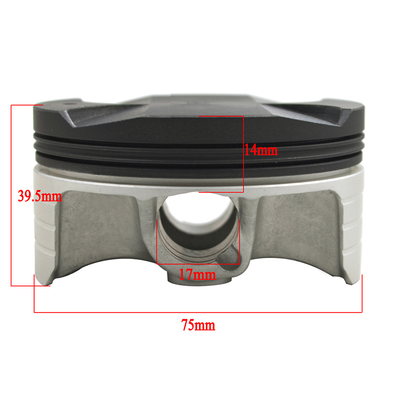 4 Set Piston Rings Pin Circlip for Honda CBR1000RR Fireblade 2004~2007 STD 75mm