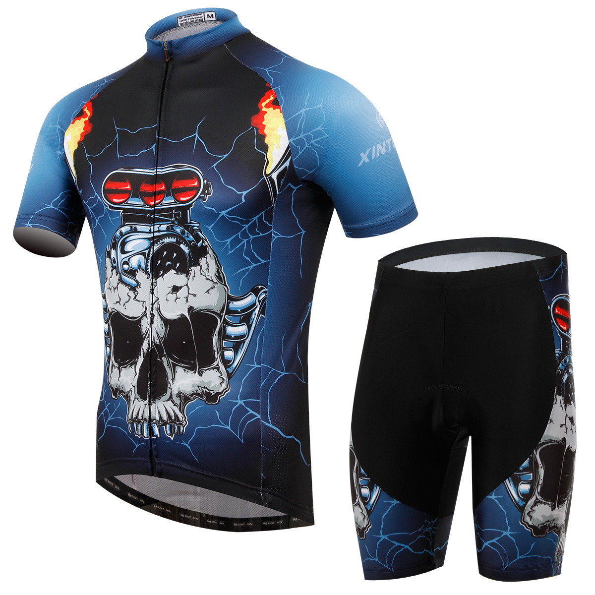 XINTOWN Short Sleeve Men Cycling Jersey Set MTB Bike Clothes Mans Summer Bicycle Clothing Maillot Conjunto Ropa Ciclismo polyester summer breathable cycling jerseys pro team italia short sleeve bike clothing mtb ropa ciclismo bicycle maillot gel pad