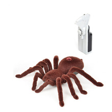 Remote Control 11inch 2CH Infrared RC Tarantula Spider Prank Toy Kid Christmas Gift rc scolopendra infrared remote control centipede toy