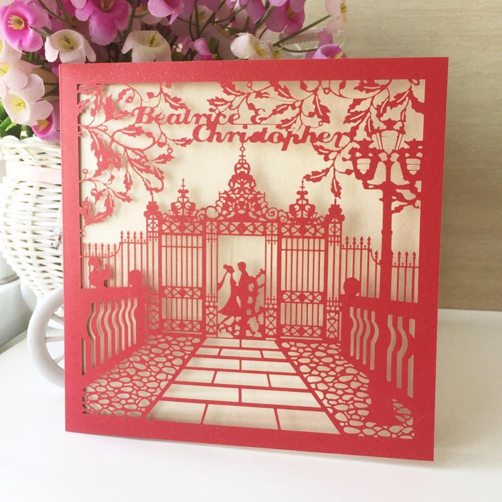 25pcs Laser Cut Ancient Chinese style Fairy Tale Delicate Wedding ...