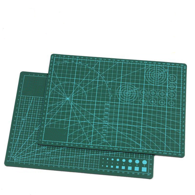 A4 Self Healing Rotary Cutting Mat Pad Cutting Board Double Sided Manual Diy Tool For Crafts, Quilting, Sewing, Scrapbooking