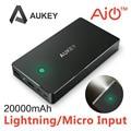 Rayo de Entrada y Entrada de Micro] Aukey 20000 mAh Portable Cargador de Batería Externa Power Bank con AIPower Tecnología de Carga Inteligente
