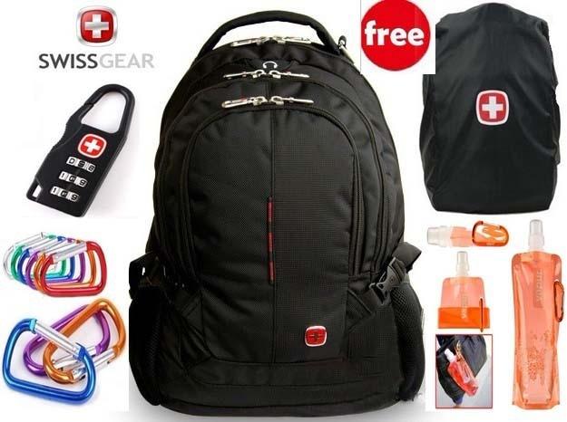 Original Swissgear Backpack For 15 4 Laptop Multifunctional Schoolbag Computer Bag Travel Wenger Sa9393 Free