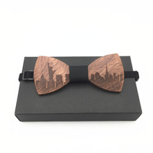 mahoosive wood bow tie mens wooden bow ties gravatas corbatas business butterfly cravat party ties for men wood ties fake collar Wood Bow Ties for Mens Wedding Suits Wooden Bow Tie Butterfly Shape Bowknots Gravatas Slim Cravat silk tie
