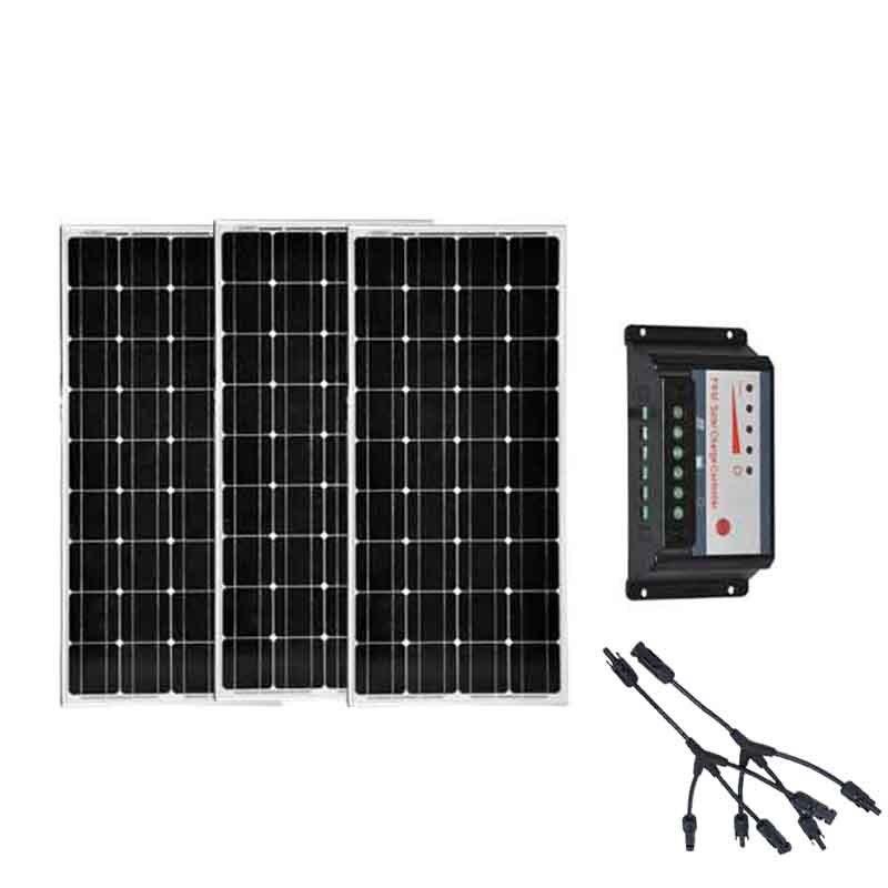 Panneau Solaire Portátil 12 v 100 w 3 Pçs/lote Controlador de Carga Solar 3 Em 1 Conector Marine Yacht Barco Solar Sistema de energia