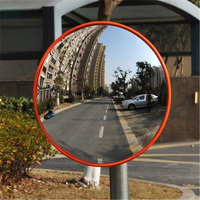 30cm/12'' Wide Angle Security Curved Convex Road Mirror Traffic Driveway Traffic Signal Roadway Safety Safurance