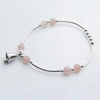 925 Sterling Silver Bracelet Strawberry Crystal Silver Bells Bracelets Women S Fashion Silver Jewelry DIY Beads