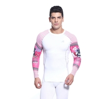 2016 white Mens basketball Clothing jerseys Long Sleeve T shirt  Sport Compression Men Shirt O-neck printed Undershirt 20 style