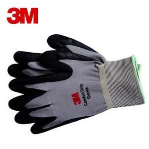 Image 2 - 3 M כפפות עבודה להחליק עמיד ללבוש עמיד אחיזת נוחות גומי Nitrile כפפות בטיחות כפפות נגד העבודה כפפות גודל L/M