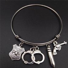 Регулируемый проволочный браслет браслеты античные серебро нержавеющая
