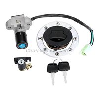 Motorcycle Ignition Switch Lock Fuel Gas Cap Cover Seat Lock Key Set For Suzuki GSF250 GSF400