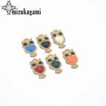 Zinc Alloy Enamel Charms Cartoon Owl 50pcs/lot For DIY Fashion Bracelet Jewelry Making Accessories