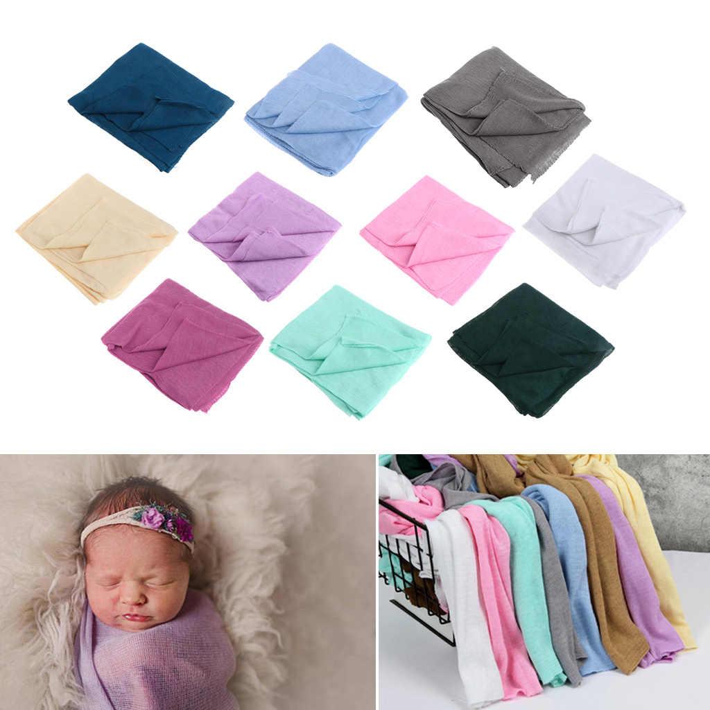 Для новорожденного мягкий вязанные тянущиеся Обёрточная бумага s40 * 150 см одеяло для новорожденного мягкая пеленка Обёрточная бумага крючком Одеяло s реквизит для фотосессии