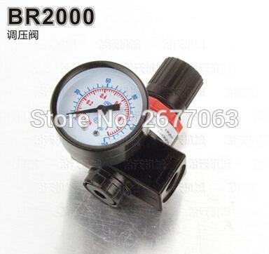 BR2000 1/4 Pneumatic Air Filter Regulator Valve GaugeAir Control Compressor Pressure air control compressor pressure gauge relief regulating regulator valve ar3000 02 1 4 port size