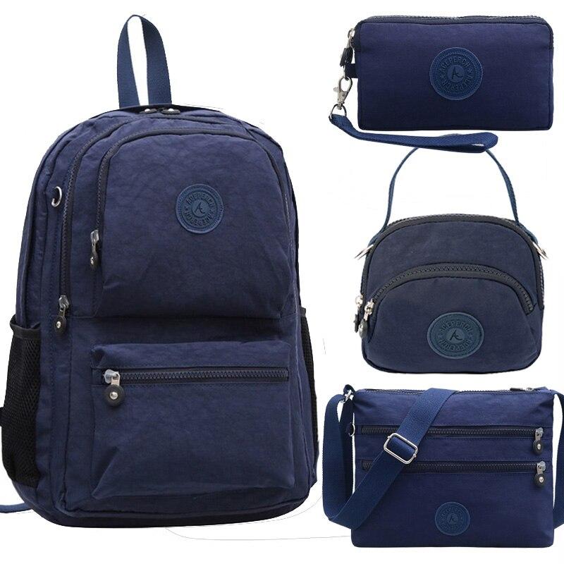 ACEPERCH Women Multifunction Backpack School Waterproof Nylon Mochila Escolar Travel Bag trekking Large Capacity Moneky Rucksack-in Backpacks from Luggage & Bags    1