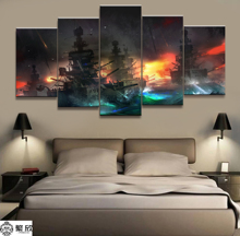 5 Panel Military Artistic War Weapon Poster Printed Painting For Living Room Wall Art Decor  Picture Artworks Poster 4 panel military uss missouri navy war weapon poster printed painting for living room wall art decor picture artworks poster