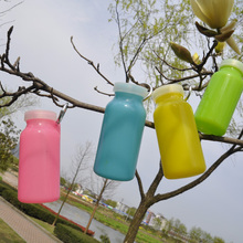 400ml Foldable Silicone Water Bottles Sport Bobble Fitness Filter Drink Travel I