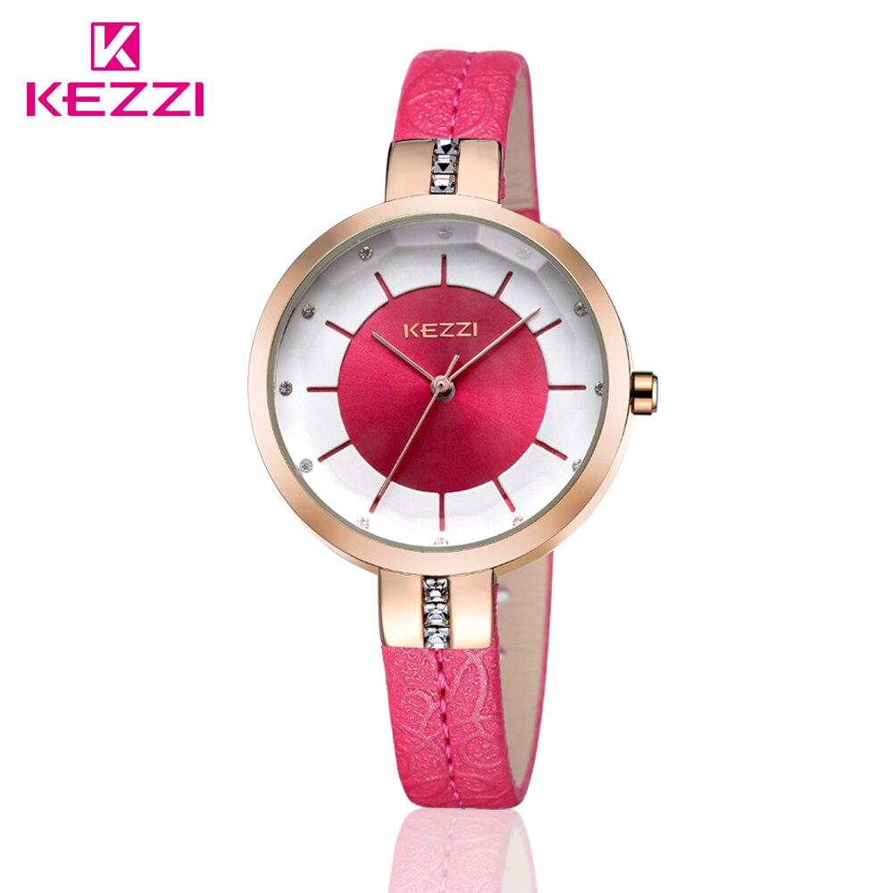 KEZZI New 2015 Women Watch Luxury Brand Fashion Watch Rhinestone Case Analog Display Quartz Watch Women
