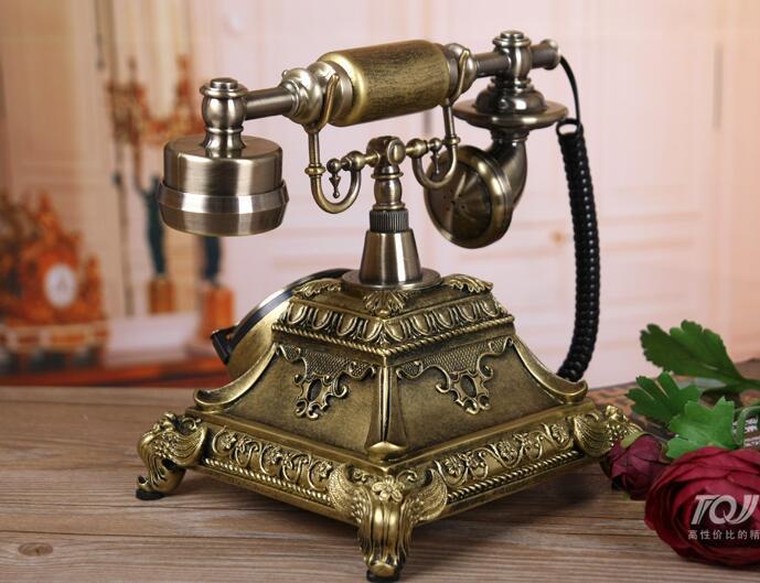 Avropa Moda Dərsinə Qatran Tunc Antik Telefonlar Otel Telefon - Ofis elektronikası - Fotoqrafiya 3