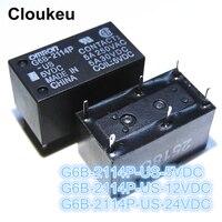 100 шт реле DIP6 G6B 2114P US 5VDC G6B 2114P US 12VDC G6B 2114P US 24VDC