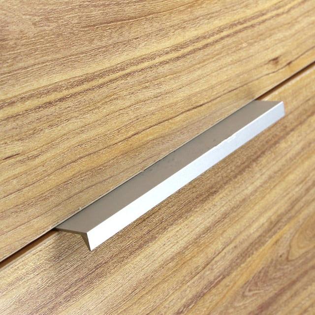 10 Stücke Moderne Einfache Schranktür Rand Griff Schrank Schublade  Aluminium Farbe Versteckte Möbel Griff Küchenschrank Pull
