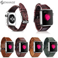 DAHASE Retro Genuine Leather Strap for iWatch 1st 2nd Watchband For Apple Watch Series 2 Leather Band w Stainless Steel Adapters