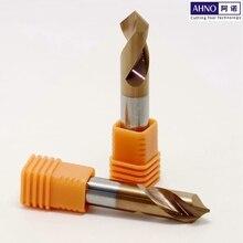 AHNO 2 флейты карбида вольфрама зрительные сверла или резец фаски для станка с ЧПУ