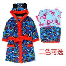 Children's girls coral fleece ear hat robe bathrobe home service special monster elves British original single autumn and winter цена