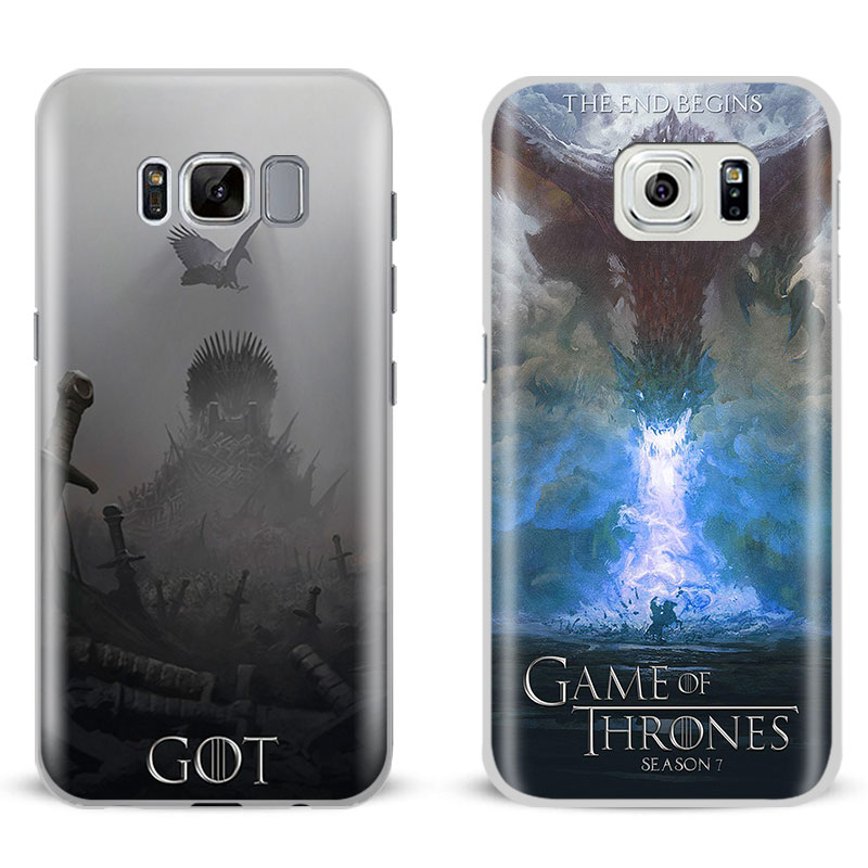 Game of Throne s Got Stark Targaryen Phone Case For Samsung Galaxy S5 S6 S7 Edge S8 S9 Plus Note 8 3 4 5 A5 A7 J5 2016 J7 2017 image