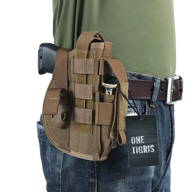 Onetigris tactique molle pistolet étui avec mag pouch pour pistolet militaire Airsoft Chasse fit Glock 17 18 19 23 Beretta M92 M96 M9