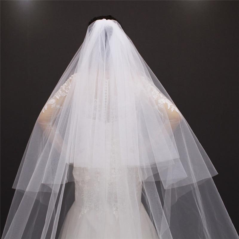 1d89f845fb Velos de novia 3 metros 2 T blanco y marfil Lentejuelas blings ...