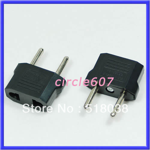 2Pc/lot Hot Travel Changer Adapter Plug US USA to European Euro New Hot