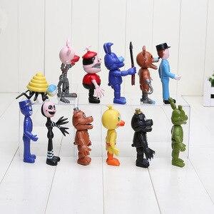 Image 3 - חמישה לילות פרדי של דמות FNAF Chica בוני פוקסי פרדי Fazbear דוב בובת PVC פעולה דמויות צעצוע