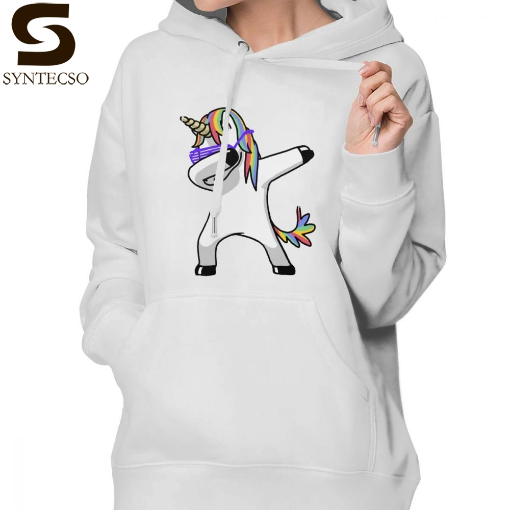 Kind-Hearted Unicorn Dab Hoodie Dabbing Unicorn Shirt Dab Hip Hop Funny Magic Hoodies Big Sizes Printed Hoodies Women Cotton Pullover Hoodie Complete In Specifications Women's Clothing