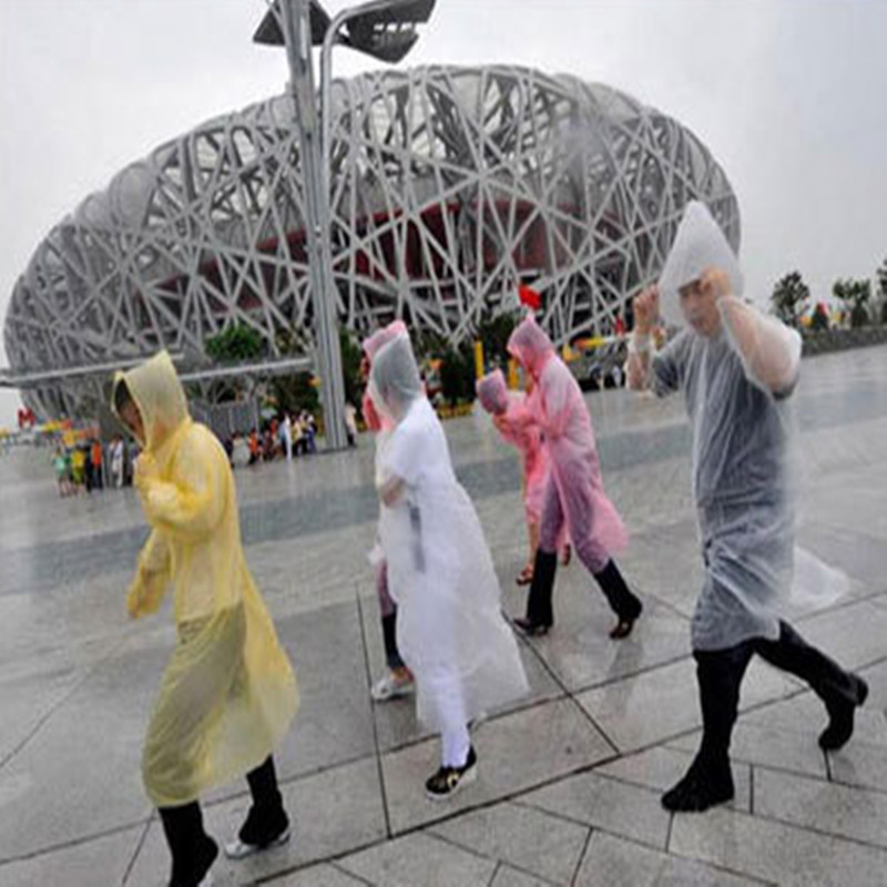 Free Shipping +outdoor travel disposable lightweight raincoat / poncho riding / plastic rain coat / portable rain gear