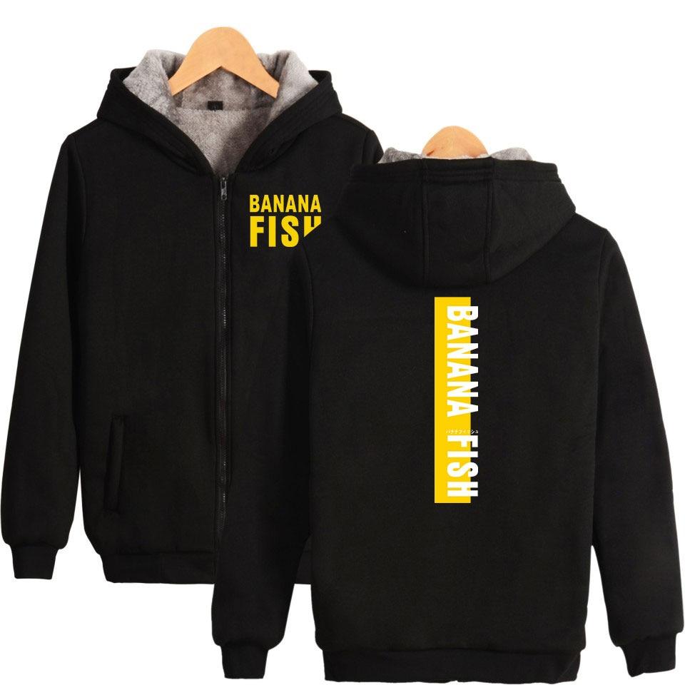 FADUN TOMMY Banana Fishno Print 2018 Hot Sale Long Sleeve Zipper Hoodies Sweatshirt Women Casual Pop