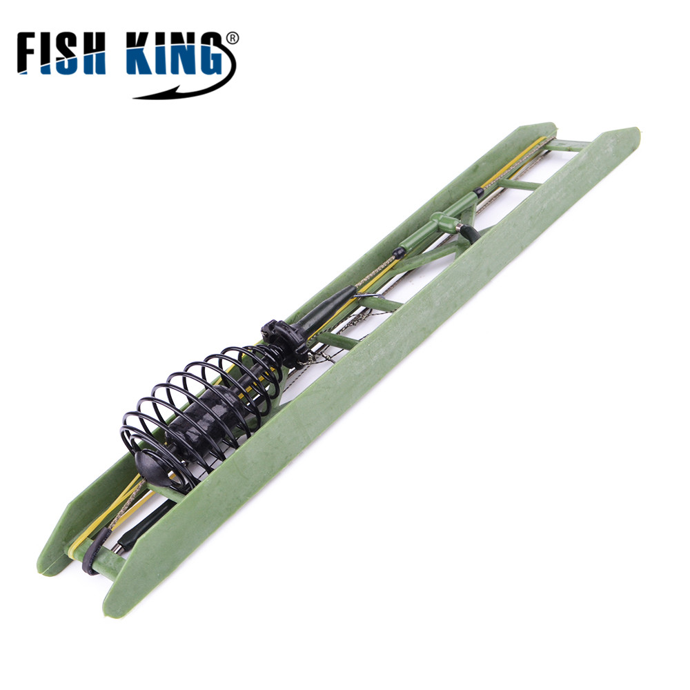 FISH KING 1PC 30G-80G High Quality Capture Off Ability Fishing Hook Carp Fishing With Lead Sinker Fishing Lure for Carp Feeder