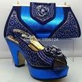 Высокое Качество Соответствия Итальянский Ботинок и Мешок Набор Африканский Стиль Обувь и Мешок Набор Италия Соответствия Обувь и Сумку для Африканской Партии