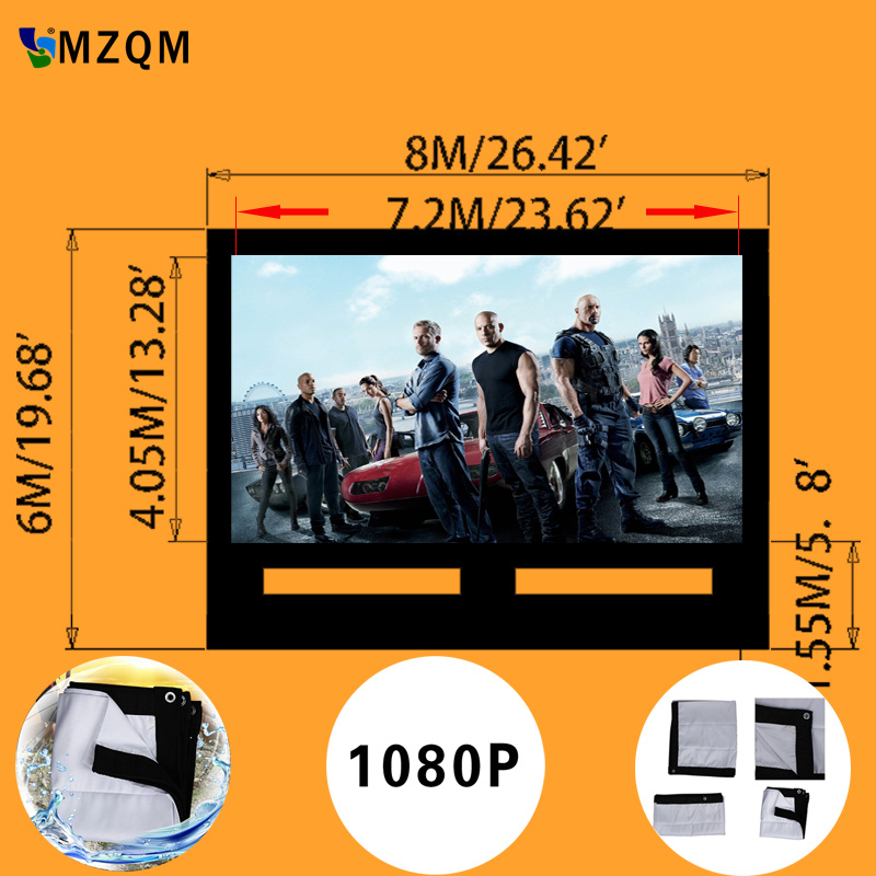 giant size L 8m x H 6 m inflatable movie screen outdoor  inflatable film screen  High quality soft material full pvc inflatable movie screen giant outdoor inflatable movie screen