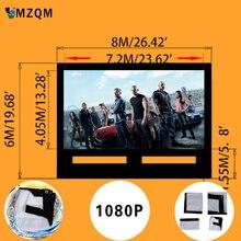 Гигантский Размер L 8 м х 6 м надувной экран открытый надувной экран фильм высокого качества мягкий материал