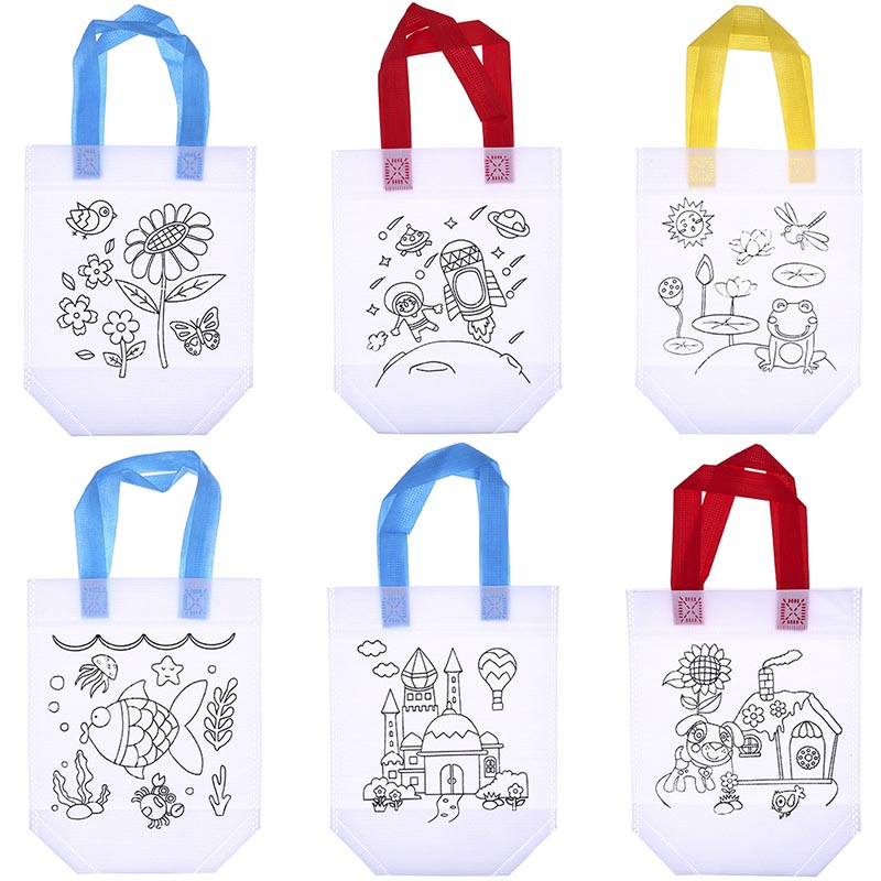 Antistress Puzzles Educational Toy for Children DIY Environmental Protection Graffiti Bag Kindergarten Hand Painting Materials