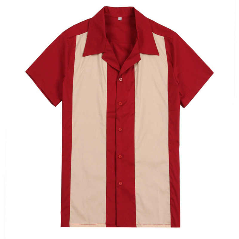 0edd7048c Detail Feedback Questions about Vertical Striped Shirt Men Designer Shirts  Red Short Sleeve Camiseta Retro Hombre Bowling Button Down Dress Men's  Shirts ...