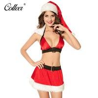 COLLEER New Christmas Sexy Lingerie Hot Fastion Cute Bra Belt Feet Girl Skirt Sexy Underwear Set