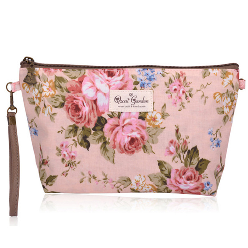 These makeup bags are also perfect for gift giving. Our bags are made from soft & durable canvas; have a black fused lining and have a gusset (see photo of side view) on the bottom so you can fit a lot of items in the bag.