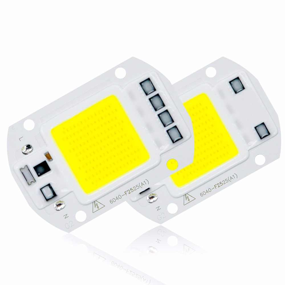 COB Chip LED Lamp 220V Smart IC No Need Driver Lampada LED Bulb For Flood Light Spotlight 5W 10W 20W 30W 50W Diy Lighting