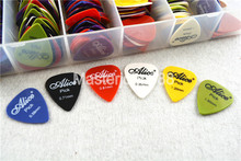 Lots of 50pcs Alice Smooth Nylon Electric/Acoustic Guitar Picks 6 Thickness Optional Free Shipping недорого