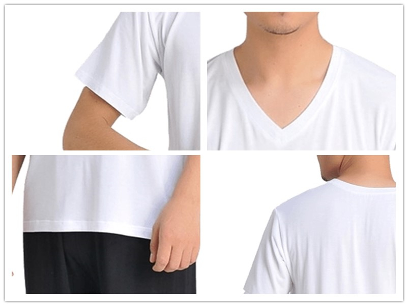 ᐂMen's Smart T-shirt Made from Organic Bamboo V Neck Short ...
